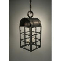 Adams 2 Light 7 inch Dark Brass Hanging Lantern Ceiling Light in Clear Seedy Glass, Candelabra